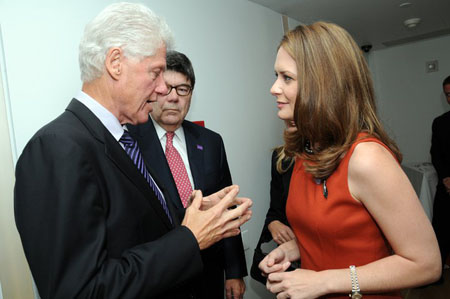 Bill Clinton helps raise funds for Caroline Fayard